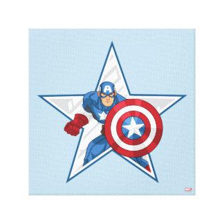 Captain America Star Graphic Canvas Print