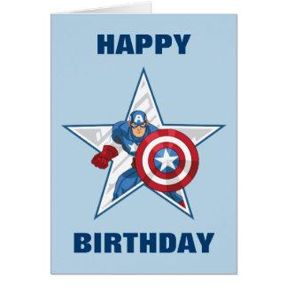 Captain America Star Graphic Card