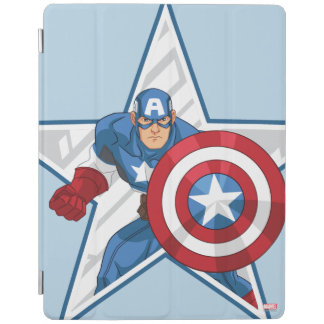 Captain America Star Graphic iPad Cover