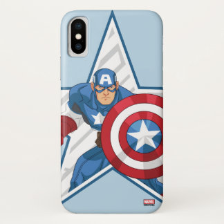 Captain America Star Graphic iPhone X Case
