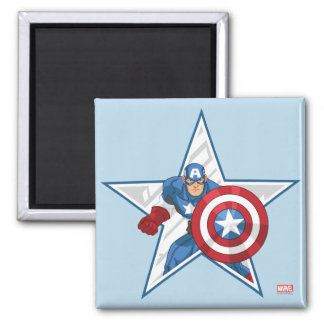 Captain America Star Graphic Magnet