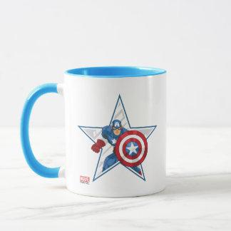 Captain America Star Graphic Mug