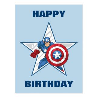 Captain America Star Graphic Postcard