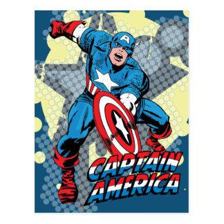 Captain America Star Postcard