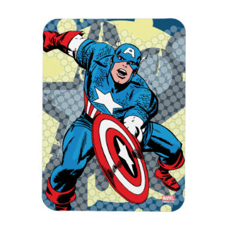 Captain America Star Rectangular Photo Magnet