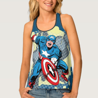 Captain America Star Tank Top