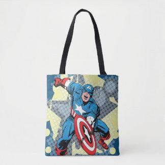 Captain America Star Tote Bag
