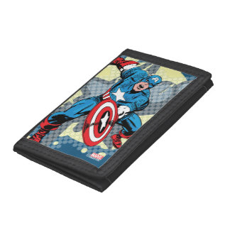 Captain America Star Trifold Wallets