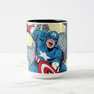 Captain America Star Two-Tone Coffee Mug