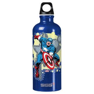 Captain America Star Water Bottle