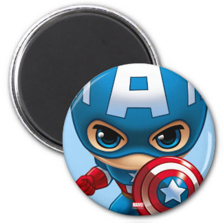 Captain America Stylized Art 2 Inch Round Magnet