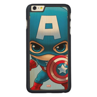 Captain America Stylized Art Carved® Maple iPhone 6 Plus Case