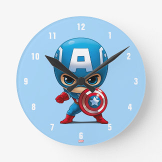 Captain America Stylized Art Clock