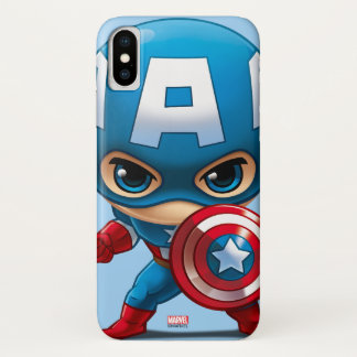 Captain America Stylized Art iPhone X Case