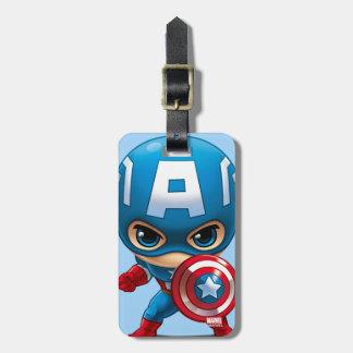 Captain America Stylized Art Luggage Tag