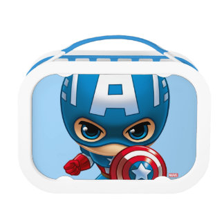 Captain America Stylized Art Lunch Boxes