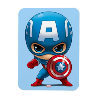 Captain America Stylized Art Rectangular Photo Magnet