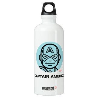 Captain America Stylized Line Art Icon