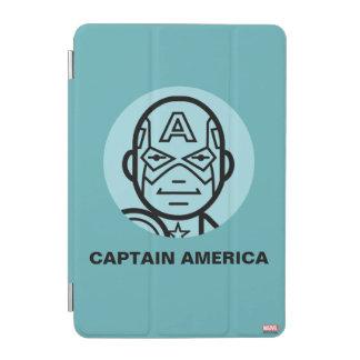 Captain America Stylized Line Art Icon iPad Mini Cover
