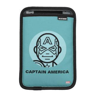 Captain America Stylized Line Art Icon iPad Mini Sleeve