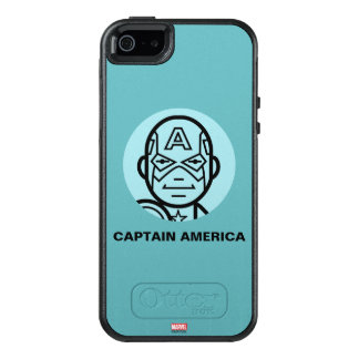 Captain America Stylized Line Art Icon OtterBox iPhone 5/5s/SE Case