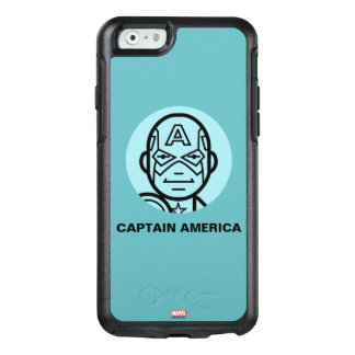 Captain America Stylized Line Art Icon OtterBox iPhone 6/6s Case