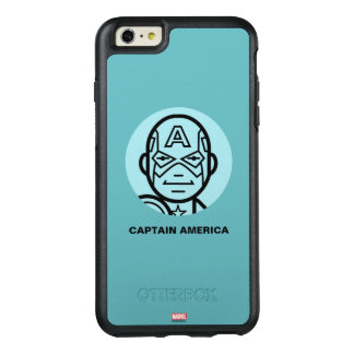 Captain America Stylized Line Art Icon OtterBox iPhone 6/6s Plus Case