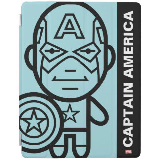 Captain America Stylized Line Art iPad Cover