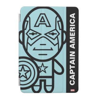 Captain America Stylized Line Art iPad Mini Cover