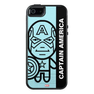Captain America Stylized Line Art OtterBox iPhone 5/5s/SE Case