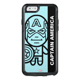Captain America Stylized Line Art OtterBox iPhone 6/6s Case