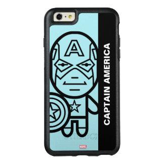 Captain America Stylized Line Art OtterBox iPhone 6/6s Plus Case