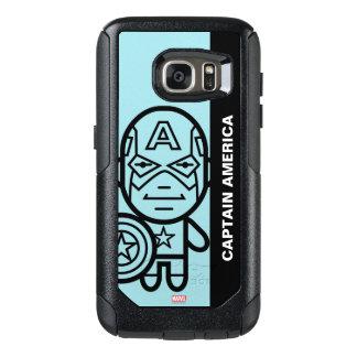 Captain America Stylized Line Art OtterBox Samsung Galaxy S7 Case
