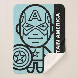 Captain America Stylized Line Art Sherpa Blanket