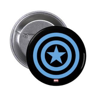 Captain America Super Soldier Logo 2 Inch Round Button