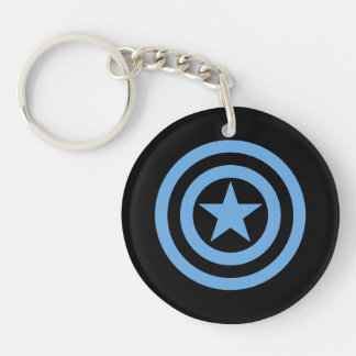 Captain America Super Soldier Logo Double-Sided Round Acrylic Keychain