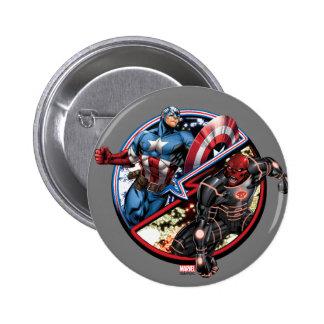 Captain America Versus Red Skull 2 Inch Round Button