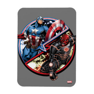 Captain America Versus Red Skull Rectangular Photo Magnet