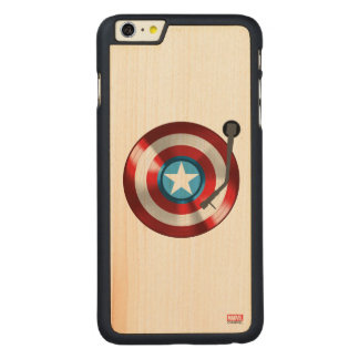 Captain America Vinyl Record Player Carved® Maple iPhone 6 Plus Case