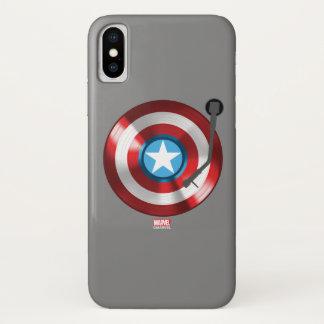 Captain America Vinyl Record Player iPhone X Case