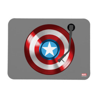 Captain America Vinyl Record Player Rectangular Photo Magnet