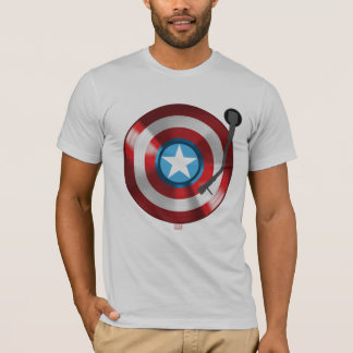 Captain America Vinyl Record Player T-Shirt