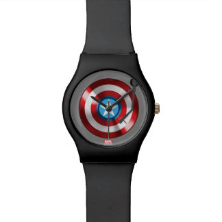 Captain America Vinyl Record Player Watch