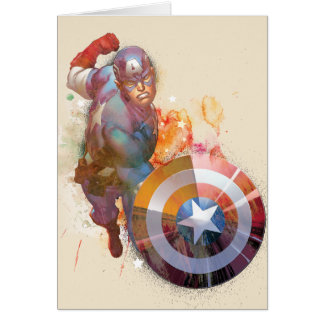 Captain America Watercolor Graphic Card
