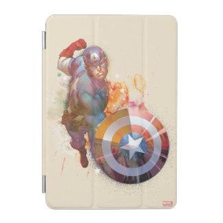 Captain America Watercolor Graphic iPad Mini Cover