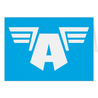 Captain America Winged Symbol Card