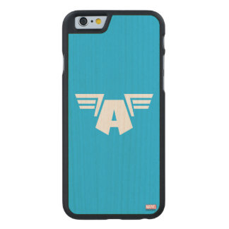 Captain America Winged Symbol Carved® Maple iPhone 6 Case