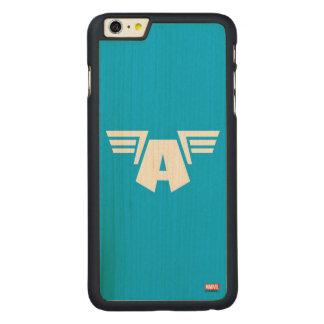 Captain America Winged Symbol Carved® Maple iPhone 6 Plus Case