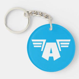 Captain America Winged Symbol Double-Sided Round Acrylic Keychain