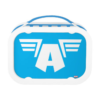 Captain America Winged Symbol Lunchboxes